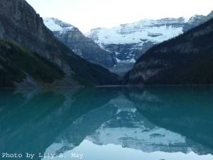 Lake Louise in the dusk, Banff National Park, Canada