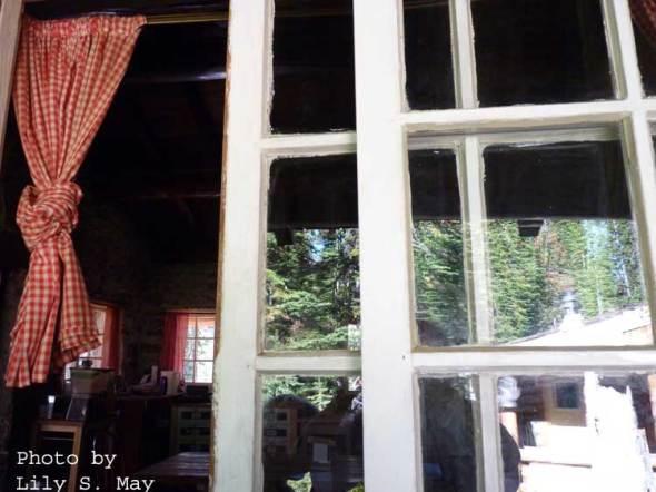 Tea House Window at Plain of Six Glaciers, Sept. 2012