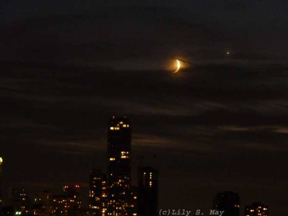 Moon and Venus, Sept. 8/2013